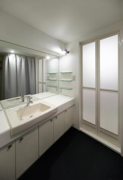 洗面室 (rust リノベ×(デザリボ+リブロック)=無骨でおしゃれな空間)