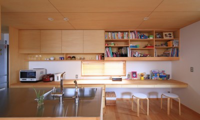 キッチン|寛ぎの家~家事を楽にこなしてゆとりの時間を楽しむ家~