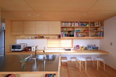 キッチン (寛ぎの家~家事を楽にこなしてゆとりの時間を楽しむ家~)