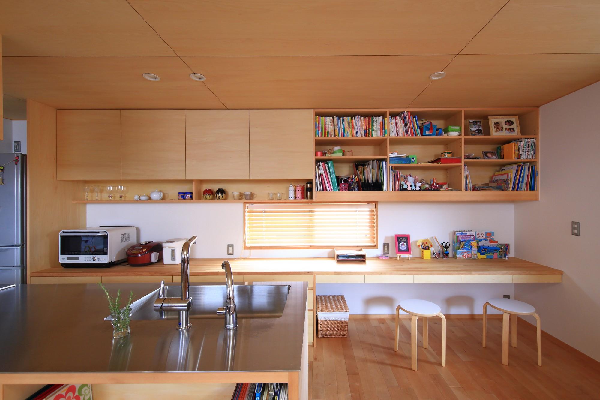 キッチン事例:キッチン(寛ぎの家~家事を楽にこなしてゆとりの時間を楽しむ家~)