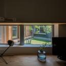祖父江町の家/角地に建つ平屋の住まいの写真 書斎コーナー
