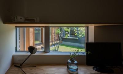 書斎コーナー|祖父江町の家/角地に建つ平屋の住まい