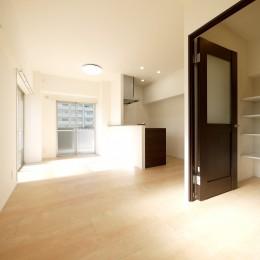 築50年のマンションを住みやすい賃貸ルームに (リビングダイニング)