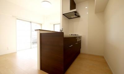 築50年のマンションを住みやすい賃貸ルームに (キッチン)