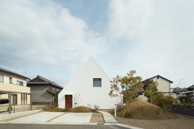 外観 (大垣の家 / インナーテラスに囲まれた三角屋根の家)