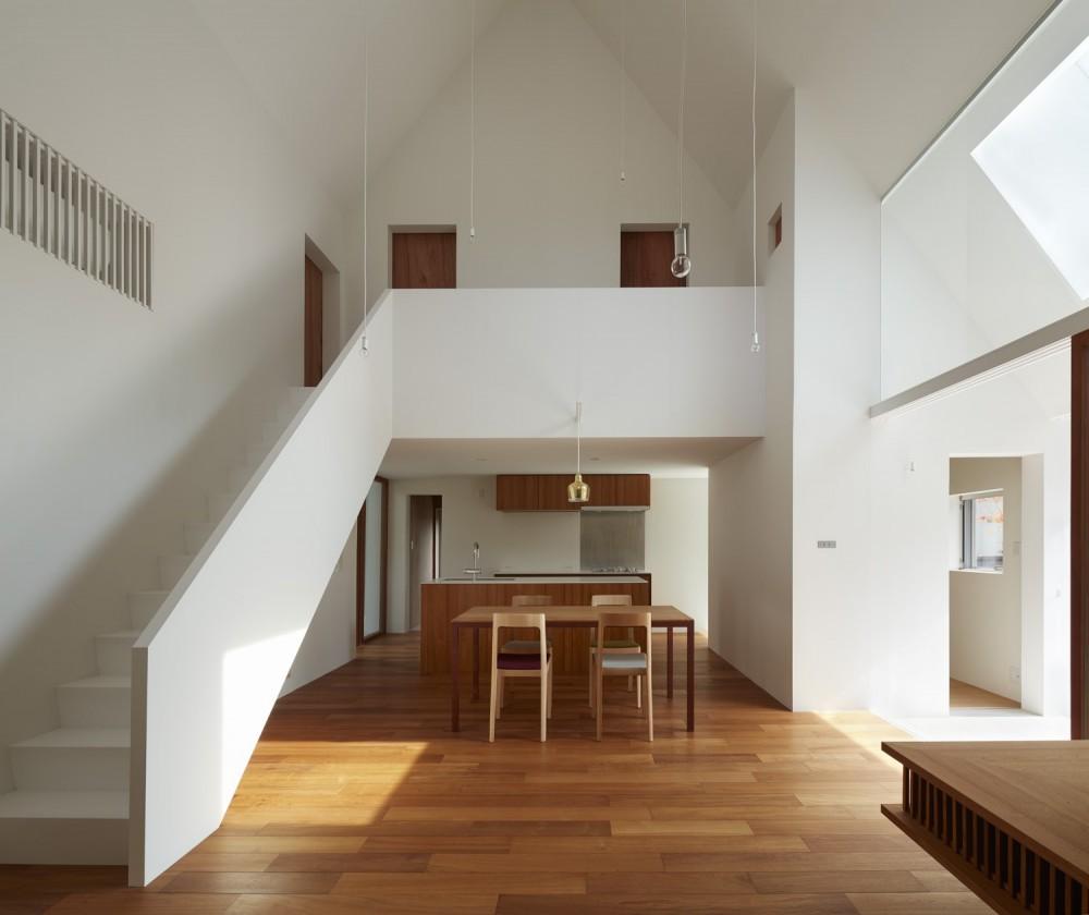 大垣の家 / インナーテラスに囲まれた三角屋根の家 (ダイニングキッチン)