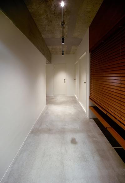 棚のある廊下 (rust リノベ×(デザリボ+リブロック)=無骨でおしゃれな空間)