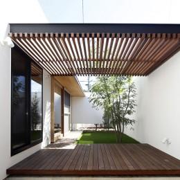 【ikenouchi】塀をくぐると広がる開放感。移り変わる光、美しい景色や木肌が美しい平屋 (庭)