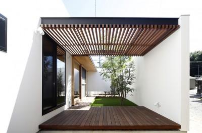 庭 (【ikenouchi】塀をくぐると広がる開放感。移り変わる光、美しい景色や木肌が美しい平屋)