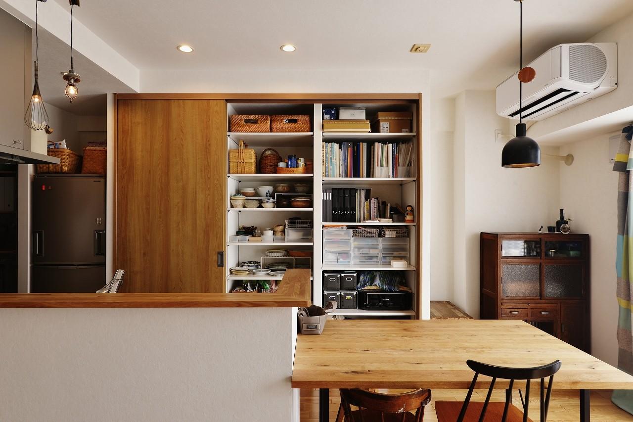 キッチン事例:キッチンに一番大切なのは収納。(ツナガル家)