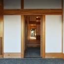 静岡の石場建ての写真 真壁の玄関。