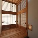 静岡の石場建ての写真 玄関は障子の間