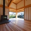 静岡の石場建ての写真 南東の木製建具