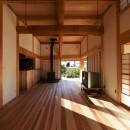 静岡の石場建ての写真 杉の厚板フローリング