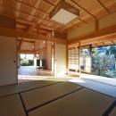 静岡の石場建ての写真 和室の筬欄間