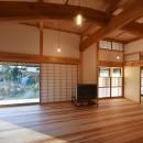 静岡の石場建ての写真 一間開口の木製建具