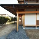 静岡の石場建ての写真 玄関脇の土縁