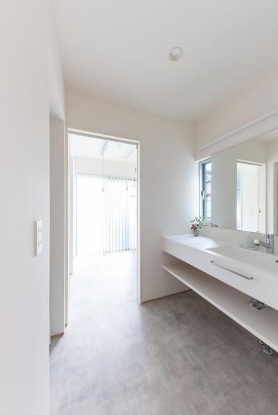 洗面脱衣室 (静穏の家)