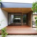 【konan】美しく整ったガレージハウスの写真 庭