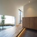 須賀崎の家  ロの字のコートハウスの写真 玄関