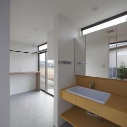 須賀崎の家  ロの字のコートハウス (洗面所)