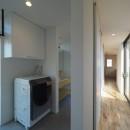 須賀崎の家  ロの字のコートハウスの写真 ランドリールーム