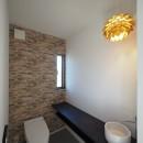 須賀崎の家  ロの字のコートハウスの写真 トイレ