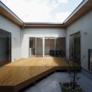 須賀崎の家  ロの字のコートハウスの写真 中庭