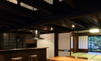 小浜の民家再生 (食堂台所)