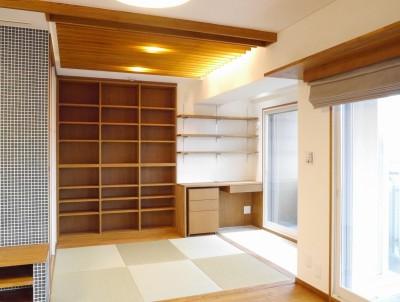 畳コーナー (吉野杉の家 (マンションリノベーション))