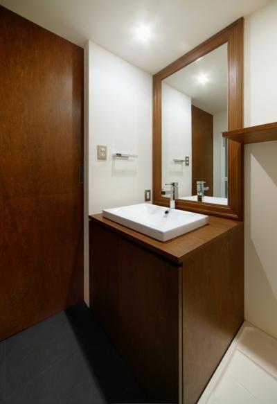 洗面室 (sabai  上質な大人の空間に仕上げる隠れ家のようなマンションリノベ)