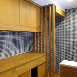 吉野杉の家 (マンションリノベーション) (キッチン収納)