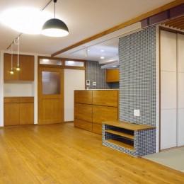 吉野杉の家 (マンションリノベーション) (リビング)
