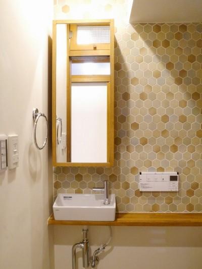 吉野杉の家 (マンションリノベーション) (トイレ)