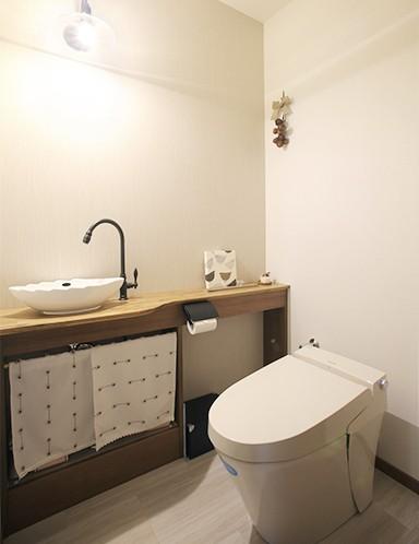 バス/トイレ事例:トイレ(母娘で料理を楽しむ住まい)