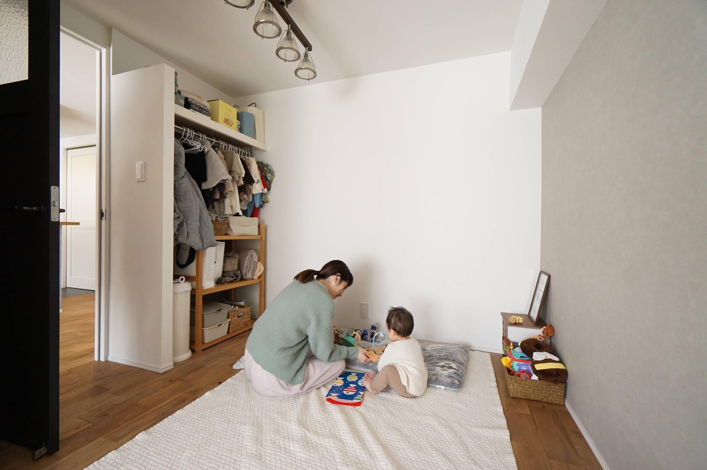 子供部屋事例:子供部屋(子育ても楽しむママの夢を叶えたライフスタイル)