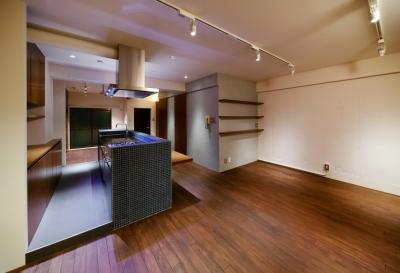 sabai  上質な大人の空間に仕上げる隠れ家のようなマンションリノベ (ダイニングキッチン1)