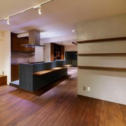 sabai  上質な大人の空間に仕上げる隠れ家のようなマンションリノベ (ダイニングキッチン2)