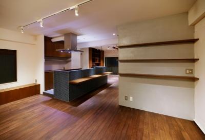 ダイニングキッチン2 (sabai  上質な大人の空間に仕上げる隠れ家のようなマンションリノベ)