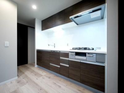 キッチン (キッチンと洗面室を繋ぐ便利な家事動線)