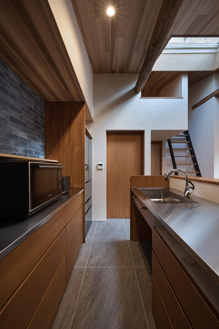 キッチン事例:キッチン(上天神町の家)