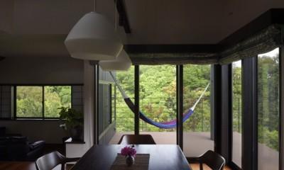 朝比奈山荘 〜なつかしさとあたらしさと、いまそこにあるリゾート〜 (ダイニングから見たベランダ)