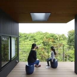 朝比奈山荘 〜なつかしさとあたらしさと、いまそこにあるリゾート〜 (ベランダからの風景)