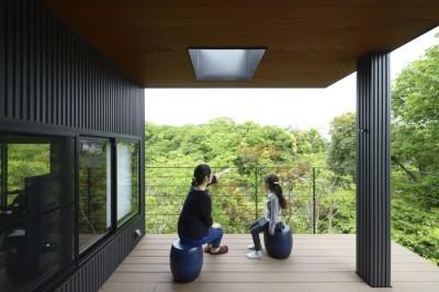 ベランダからの風景 (朝比奈山荘 〜なつかしさとあたらしさと、いまそこにあるリゾート〜)