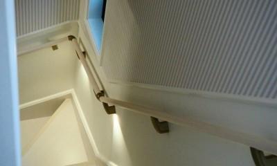 建売戸建てをラグジュアリーなプライベートサロンに (階段)