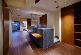 sabai  上質な大人の空間に仕上げる隠れ家のようなマンションリノベ (リビングダイニング2)
