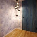 『団地を自分らしく無垢リノベ』の写真 玄関