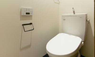 raita 特徴的なRC空間を活かし シンプルかつおしゃれにデザインした戸建テラスリノベ (トイレ)