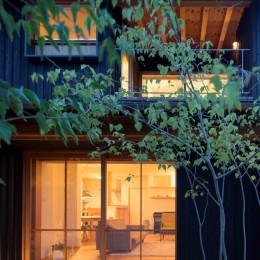 寺津の家/墨色の押縁板壁の家