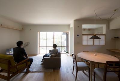 台所・食堂 (寺津の家/墨色の押縁板壁の家)